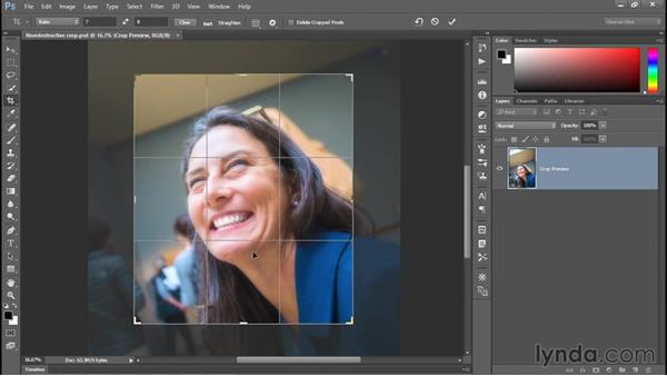 Rotating and other Crop tool tricks: Photoshop CC 2015 One-on-One: Fundamentals