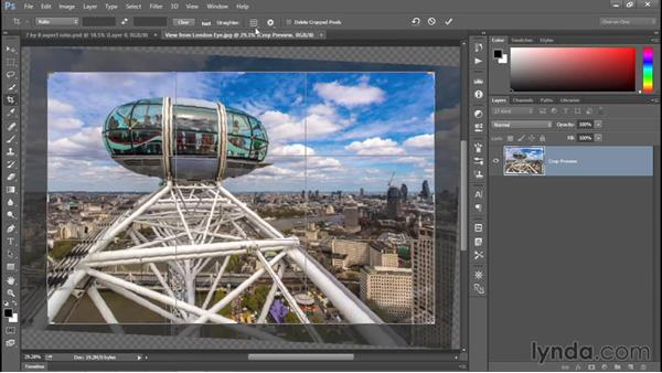 Straightening a crooked image: Photoshop CC 2015 One-on-One: Fundamentals