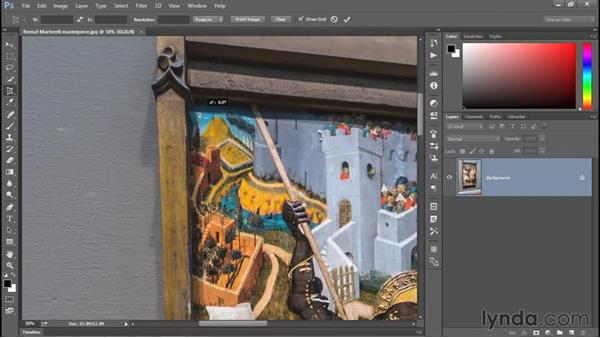 Using the Perspective Crop tool: Photoshop CC 2015 One-on-One: Fundamentals