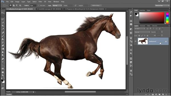Converting the flat background into a layer: Photoshop CC 2015 One-on-One: Fundamentals