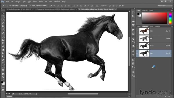 Turning a color photo black and white: Photoshop CC 2015 One-on-One: Fundamentals