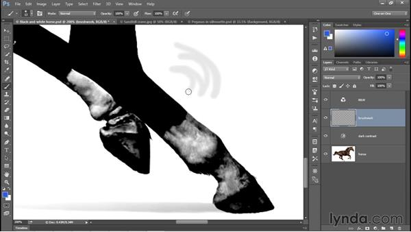 Creating a new layer and painting on it: Photoshop CC 2015 One-on-One: Fundamentals
