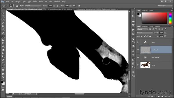 Simple tricks for painting with the Brush tool: Photoshop CC 2015 One-on-One: Fundamentals