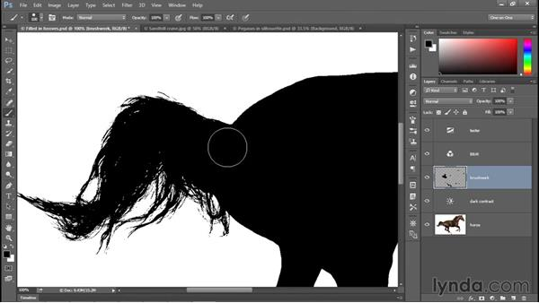 Distinguishing black from non-black pixels: Photoshop CC 2015 One-on-One: Fundamentals
