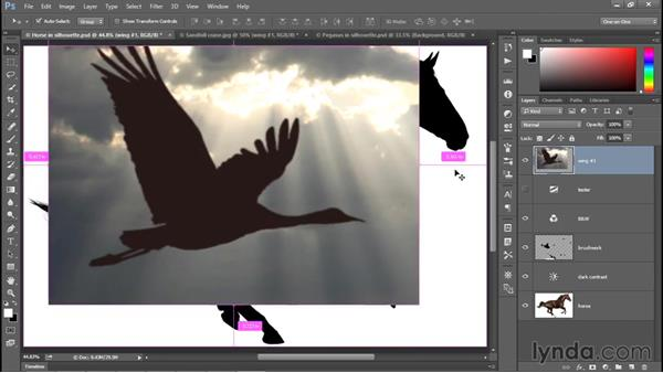Moving an image from one document to another: Photoshop CC 2015 One-on-One: Fundamentals