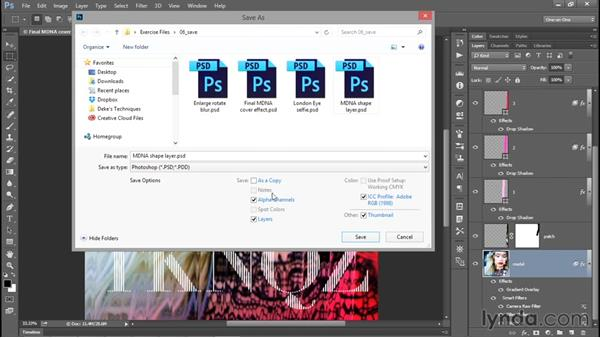 Saving layers to the native PSD format: Photoshop CC 2015 One-on-One: Fundamentals