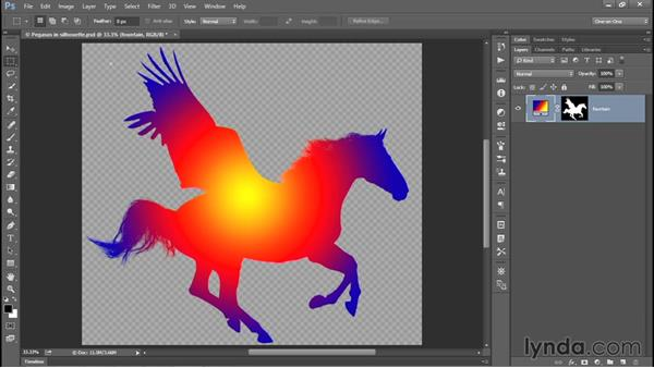 Saving an interactive image to PNG: Photoshop CC 2015 One-on-One: Fundamentals