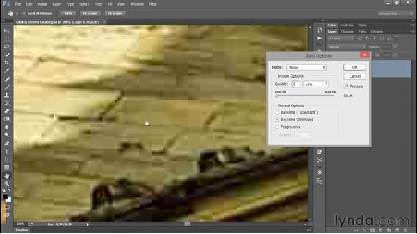 Saving a flat photograph to JPEG: Photoshop CC 2015 One-on-One: Fundamentals