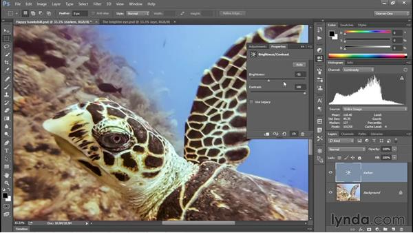 Putting the Histogram to use: Photoshop CC 2015 One-on-One: Fundamentals