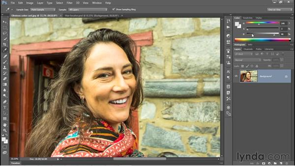 Identifying the color cast of a photo: Photoshop CC 2015 One-on-One: Fundamentals