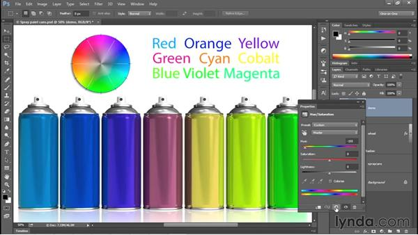 Introducing Hue/Saturation: Photoshop CC 2015 One-on-One: Fundamentals