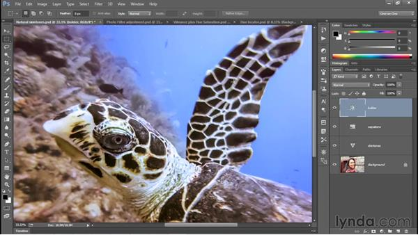 Creating a quick-and-dirty sepia-tone effect: Photoshop CC 2015 One-on-One: Fundamentals