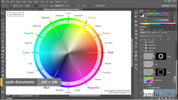 Your own personal color chart: Photoshop CC 2015 One-on-One: Fundamentals