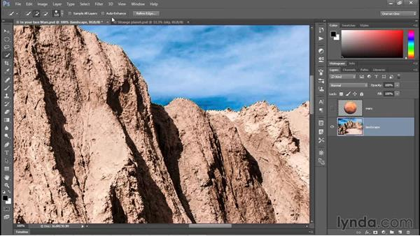 Painting with the Quick Selection tool: Photoshop CC 2015 One-on-One: Fundamentals
