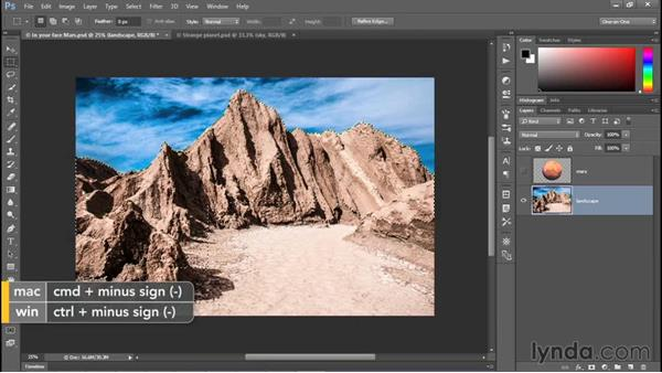 Add, subtract, and intersect selections: Photoshop CC 2015 One-on-One: Fundamentals