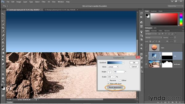 Turning a selection into a layer mask: Photoshop CC 2015 One-on-One: Fundamentals