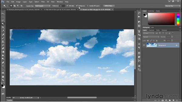 Working with the Magic Wand tool: Photoshop CC 2015 One-on-One: Fundamentals