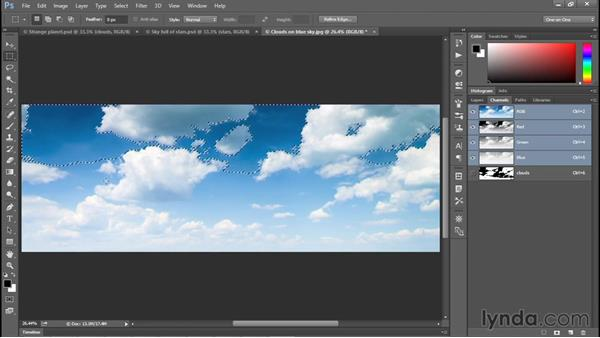 Saving and loading selections: Photoshop CC 2015 One-on-One: Fundamentals