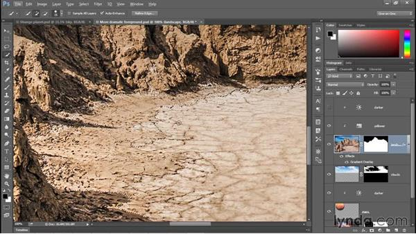 Conquering the Quick Selection tool: Photoshop CC 2015 One-on-One: Fundamentals