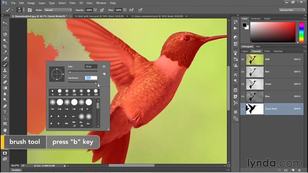 Introducing the Quick Mask mode: Photoshop CC 2015 One-on-One: Fundamentals