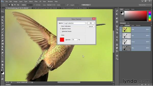 The fastest way to save a selection: Photoshop CC 2015 One-on-One: Fundamentals