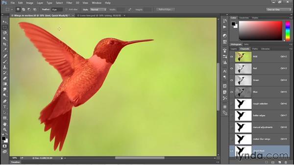 Reversing a mask with Invert: Photoshop CC 2015 One-on-One: Fundamentals