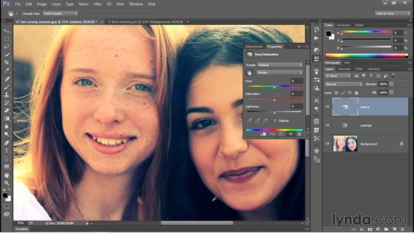 Correcting very bad colors: Photoshop CC 2015 One-on-One: Fundamentals