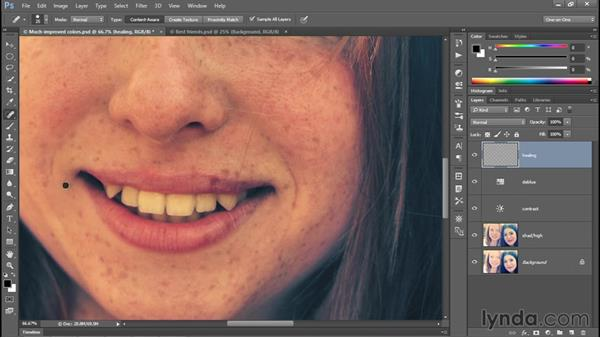 Painting with the Spot Healing Brush: Photoshop CC 2015 One-on-One: Fundamentals