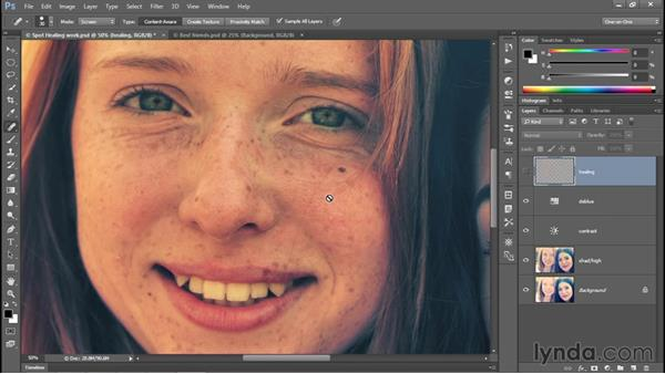 Healing Brush tips and tricks: Photoshop CC 2015 One-on-One: Fundamentals