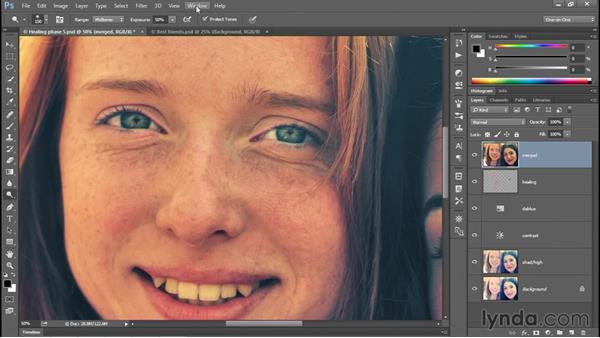 Using the Dodge and Burn tools: Photoshop CC 2015 One-on-One: Fundamentals