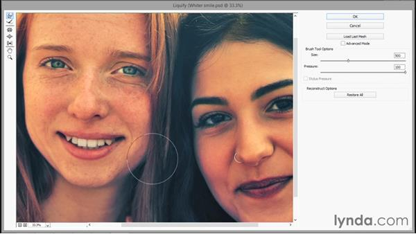 Reshaping details with the Liquify filter: Photoshop CC 2015 One-on-One: Fundamentals