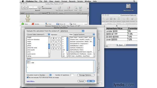 Using logical functions: FileMaker Pro 10 Essential Training
