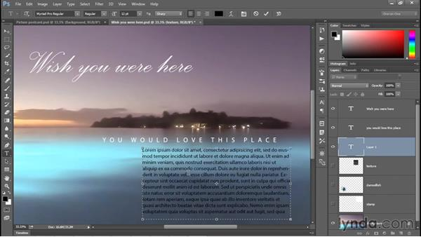 Creating and editing paragraph text: Photoshop CC 2015 One-on-One: Fundamentals