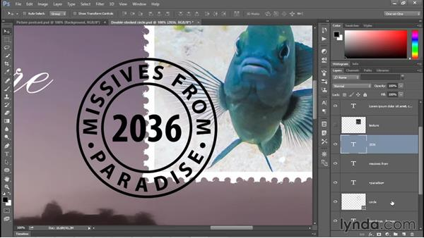 Creating a stressed cancellation mark: Photoshop CC 2015 One-on-One: Fundamentals
