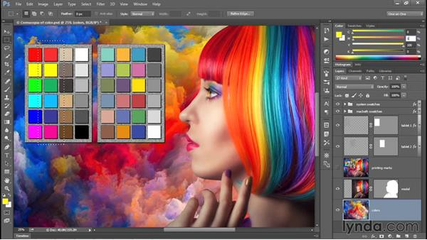 Using my customizable printer test file: Photoshop CC 2015 One-on-One: Fundamentals