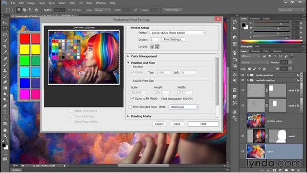 Print, size, and position: Photoshop CC 2015 One-on-One: Fundamentals