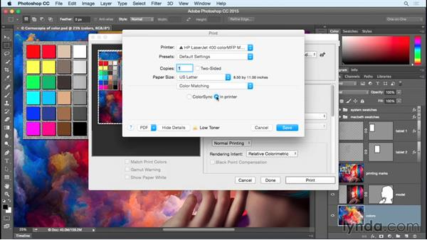 Using printer-specific options on the Mac: Photoshop CC 2015 One-on-One: Fundamentals
