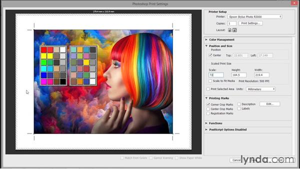 Description and printing marks: Photoshop CC 2015 One-on-One: Fundamentals
