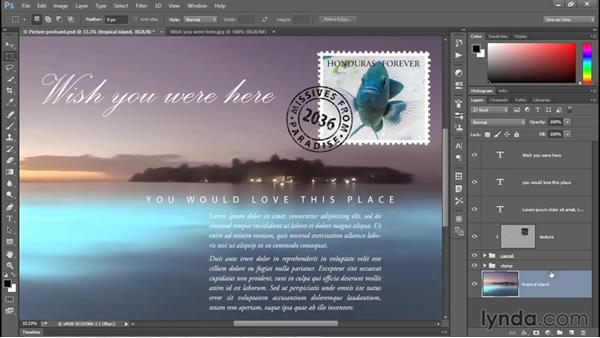 Exporting multiple layers and groups: Photoshop CC 2015 One-on-One: Fundamentals