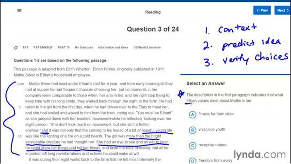 Exploring techniques for passage-based reading: PSAT Test Prep