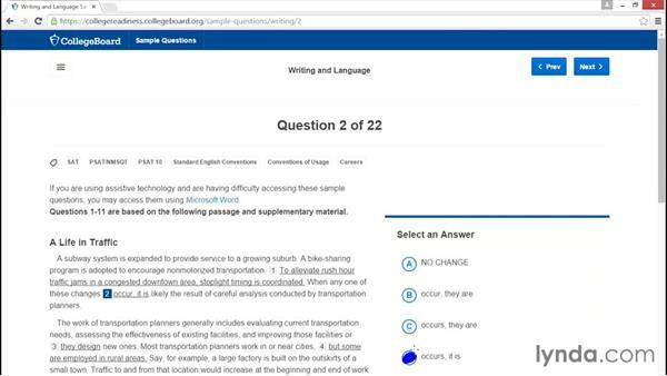 Question type: Grammar: PSAT Test Prep