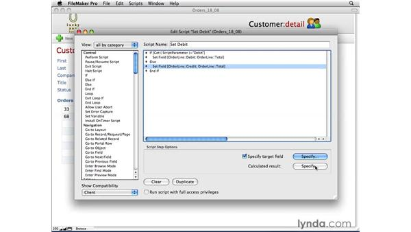 Using Set Field and Set Field by Name: FileMaker Pro 10 Essential Training