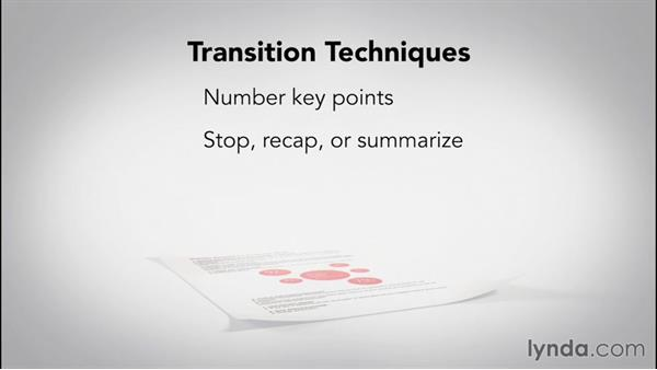 Tying thoughts together with transitions: Speech Writing