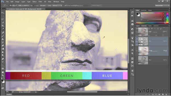 Luminance and its relationship to color: Photoshop CC 2015 One-on-One: Fundamentals