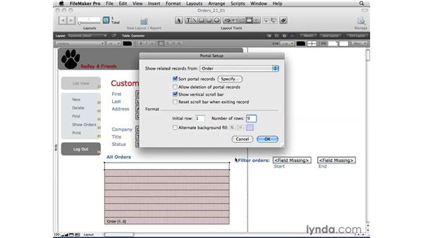 Creating portals: FileMaker Pro 10 Essential Training