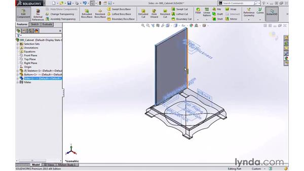 Welcome: Modeling a Cabinet with SOLIDWORKS