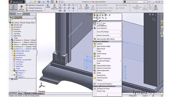 Front frame decor: Modeling a Cabinet with SOLIDWORKS