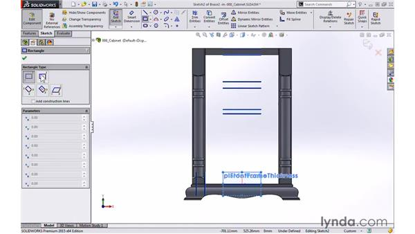 Braces and supports: Modeling a Cabinet with SOLIDWORKS