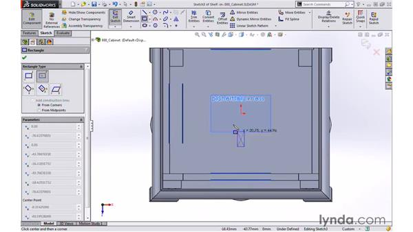 Shelf: Modeling a Cabinet with SOLIDWORKS