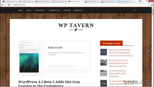 Going further with WordPress: WordPress Essential Training
